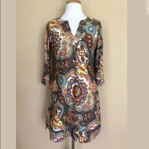 Jude Connally Floral Paisley Stretch Dress Sz S